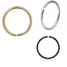 Nose Ring Anodized Tragus Helix Seamless Septum Ear Rook Snug Piercing 20g 8mm