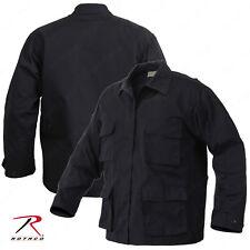 Men's Black Rip-Stop Uniform Jacket - Rothco SWAT Tactical BDU Shirt
