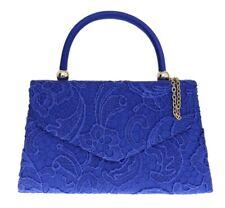 Womens Satin Embroidered Clutch Bag Lace Handbag Prom Events Top Handle Designer