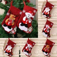 Christmas Hanging Socks Fabrics Non-woven Holiday Stockings Gift Bag Accessories