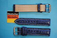 Haifisch Uhrband blau für UTC Uhren mit im Band eingesetzer 2. Uhr 20 + 18mm