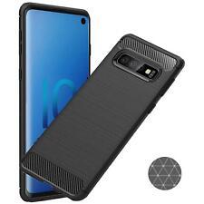 Schutzhülle Samsung Galaxy S10 Serie Carbon Hülle Handy Hybrid Case TPU Cover