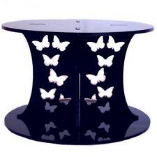 Motif Papillon Gâteau Rond Séparateur - Noir