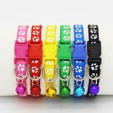 Welpenhalsband mit Pfötchenmuster für Hunde Katzen Nylonhalsband Welpe Halsband