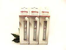 Rotring Tikky Liner GEL Pen Chrome Body 0.3, 0.5 & 0.7 Pen Black Ink CLEARANCE