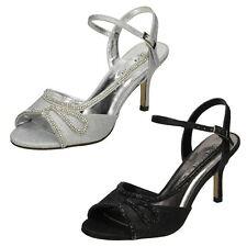Ladies Anne Michelle Mid Heel Glitter Sparkle Evening Party Sandals - F10579