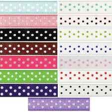 9mm x 5m Grosgrain Spots Polka Dots Ribbon Multi Colour Celebration