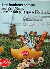 PUBLICITE 1975  VAN MELLE   bonbons mentos mellini