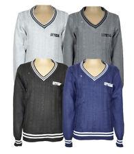 Kinder Pullover  V-Ausschnitt Pulli Junge Pullover warm Oberteil