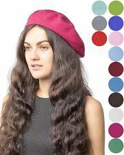 5eac2c80 Basic Sense Women fashion 100% wool French classic style beret hat