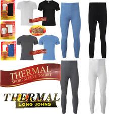 Men  Short Sleeve Thermal Vest & Long Johns Brushed Inside For Extra Warmth
