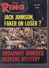 Ring Magazine Jack Johnson Faker or Loser? January 1969