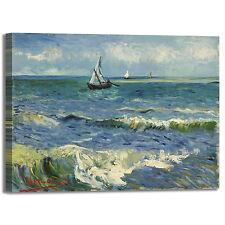 Van Gogh paesaggio marino design quadro stampa tela dipinto telaio arredo casa