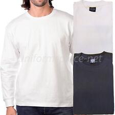 Men Long sleeve t-shirt Crew Neck Tee Plain Colors Cotton Adult Big & Tall
