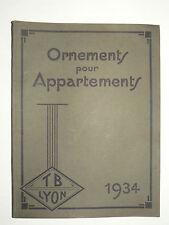 Beau Catalogue Ornements pour Appartements TB à Lyon  1934  Rideau Porte manteau