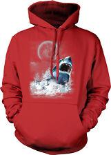 Great White Shark Water Teeth Mouth Full Moon Attack Eat Ocean Hoodie Sweatshirt