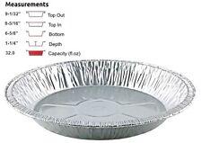 "Handi-Foil 9"" Aluminum Foil Pie Pan Extra-Deep -Disposable Tin Plates HFA # 4004"