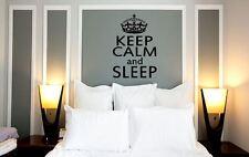 Wall Decal Keep Calm and Sleep quote slogan Bedroom Vinyl wall art Sticker