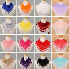 Ladies Soft Scarf Triangle Lace Elegant Women Tassel Scarves Wrap Shawl Stole