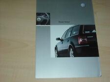 35576) VW Passat Variant Polen Prospekt 2003