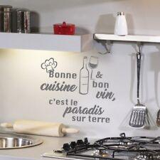 Sticker Bonne cuisine & bon vin, c'est le paradis sur terre