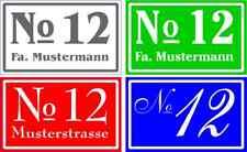 Hausnummer-Namensschild-Klingelschild-Dibond Wunschtext