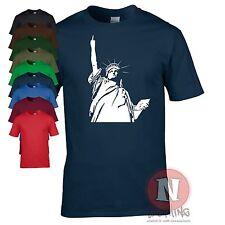 Estatua de la libertad Estilo Banksy Arte Callejero Graffiti Camiseta