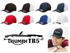 Triumph TR5 Sports Car Color Outline Design Hat Cap