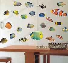 Tropical Clown Fish Sea Nemo Wall Stickers Bathroom Art Decal Kids Nursery Decor