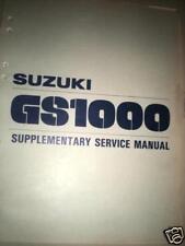 NOS Suzuki 1979 GS1000LN Supplemental Service Manual