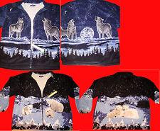 Invierno cálido térmico completo de piel de lana acolchado chaqueta con cremallera Oso Polar Nuevo