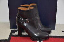 Ralph Lauren Collection Purple Label Hadlee Leather High Heel Short Boots