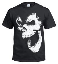 SKULL OUT BLACK T shirt/Biker/Tribal/Halloween/Goth/Reaper/Metal/Rock/Top/Tee