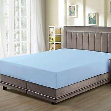 CC&DD- Fitted Sheet , Premier 1800 ,Luxury Super Silky Soft, Light blue