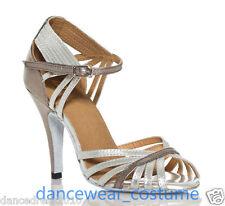 Women's Ballroom Latin Tango Salsa Dance Shoes Samba Rumba Heels Sandals US5-9