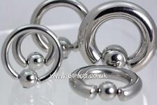 Ball Closure Ring  Large Gauge      BCR  Medical Grade steel     PA -Nipple -Ear