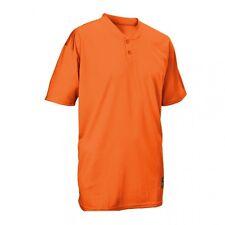 Easton Skinz 2 Button Placket Jersey Orange Youth