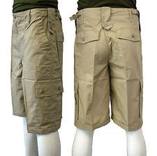 Hombres Combat Safari Tiroteo Caza Verano Pantalones Cortos 2 Colores Beige