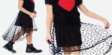 GIRLS Deux par Deux Hi-Low Mesh Skirt