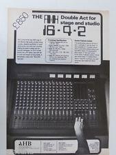 retro magazine advert 1981 A+H 16 4 2 mixer