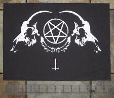 Goat Skull BACK Patch Pentagram Leviathan Cross Baphomet Satanic Satan Punk DIY