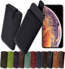"iPhone XS Max 6.5"" Hülle Leder Tasche Schutzhülle Slim Case Cover in 14 Farben"