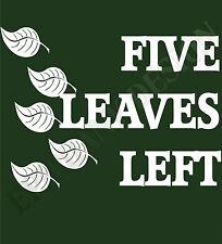 Nick Drake Inspired T-Shirt  Five Leaves Left  Folk Music Fairport Covention
