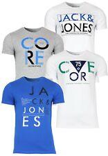 Jack&Jones Camiseta Hombres jjcowacom Tee Alto & Ajustado Verano Informal