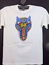 Arte Huichol Men's The Wolf Head Graphic T-Shirt Mexican Folk-Art Wisdom M