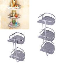 Triangular Shower Caddy Shelf Bathroom Corner Wall Rack Storage Holder Organizer