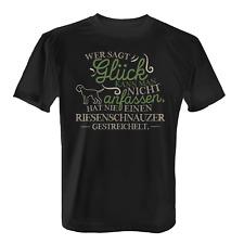 Riesenschnauzer Glück Herren T-Shirt Spruch Geschenk Idee Rasse Hunde Besitzer