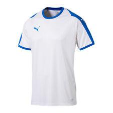 Puma Liga Camiseta Manga Corta Blanco Azul F12