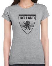 439 Holland womens T-shirt country dutch flag lion futbol rugby uniform europe
