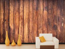 3D Red Wooden Stripe 2 Wall Murals Wallpaper Decal Decor Home Kids Nursery Mural